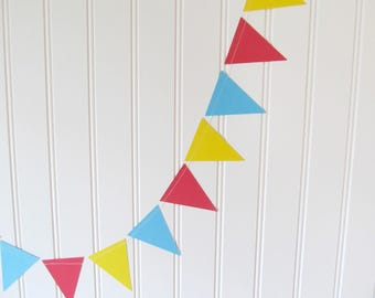 Circus Banner - Carnival Banner - Circus Party - Circus Theme Party - Carnival Party Decorations - Triangle Garland