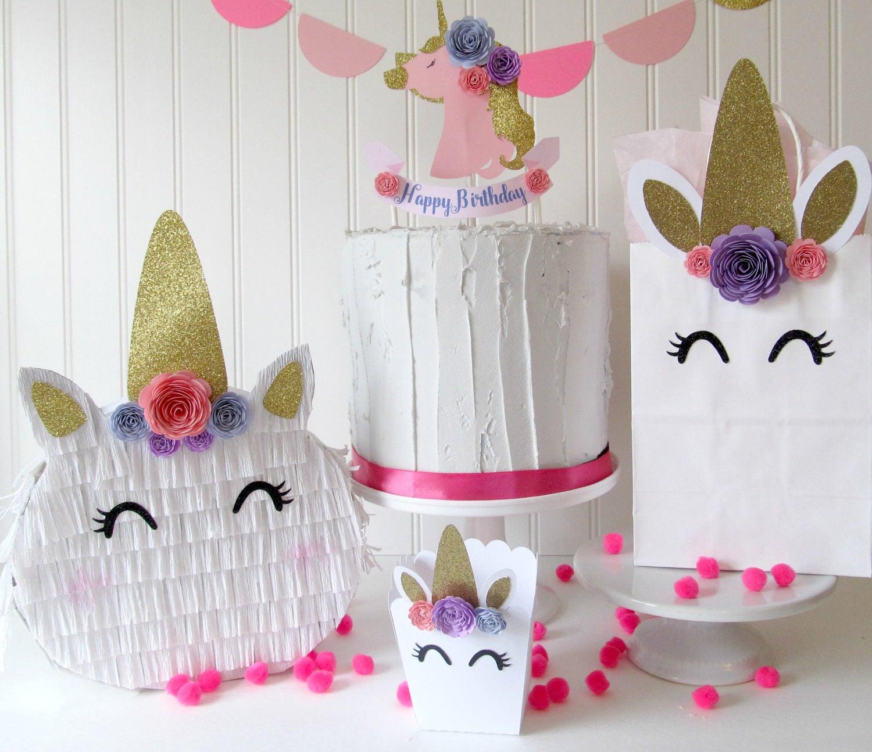 Unicorn favor bag unicorn party decor unicorn favors - Decoraciones de peceras ...