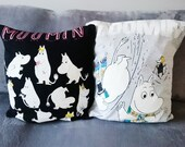 moomin gift, moomin cushion, moomin mama, geek gift idea, anime lover gift, cushion, pillow, moomaiden, moomin papa