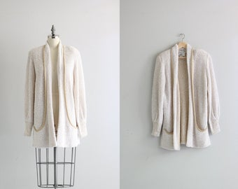 Oversized Womens Cardigan . Winter White Oatmeal Knit Cardigan Sweater