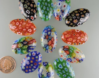 Mille Fiori Cabochons, Thousand Flowers Cabs, Designer Cabochons, Gift Cabochons,  Pendant Cabochon, C2219, 49erMinerals