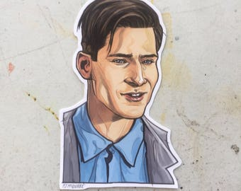 George McFly BACK to THE FUTURE Sticker