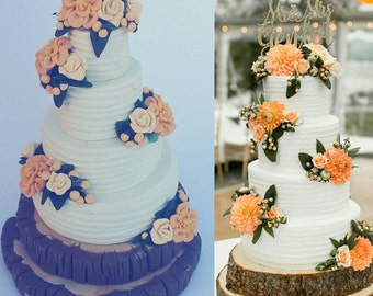 Medium Detail Wedding Cake Ornament, Wedding Cake Replica, anniversary Gift, Newlywed, wedding cake replica, first christmas ornament, 1st