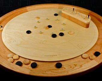 High Quality Crokinole Board, Solid Cherry, Hangs on the Wall, Paul Szewc