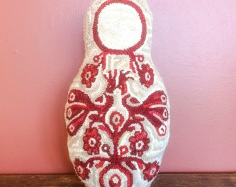 Matryoshka Nesting doll Rug Hooking or Needle Punch Patterns