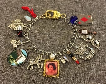 Audrey Horne at the Great Northern Custom Charm Bracelet, plus you chose 12 additional Twin Peaks inspired charms.