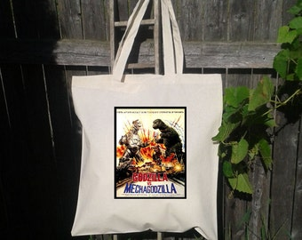 Godzilla VS Mechagodzilla- Vintage Movie Poster Tote Bag