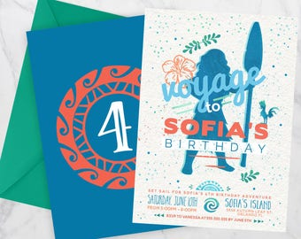 Moana Birthday Invitation, Moana Birthday Party, Moana invitation, Moana birthday