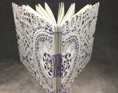 Black and White Lace Coptic Bound Journal