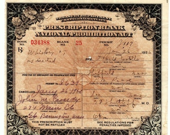 1/26 '26 David Costello Prohibition Prescription Whiskey Doctor Shurtleff Otis Lee Sheffield Gt Barrington MA History Speakeasy Pharmacy Bar