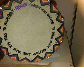 """10"""" Painted Tambourine"""