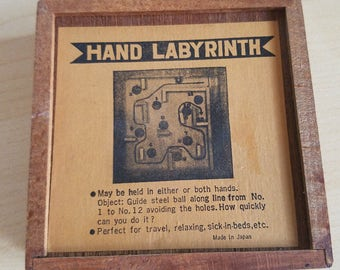 Vintage Shackman Wooden Toy Hand Labyrinth Puzzle