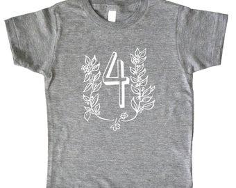 I Am This Many Kids Birthday Shirt - Flower and Vine - Boys Shirt or Girls Birthday Shirt - Baby & Toddler - I'm This Many - Number Shirt