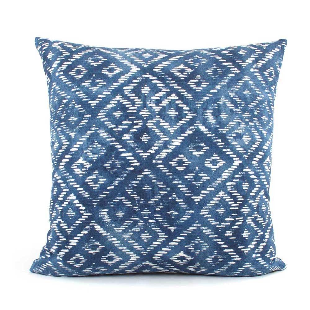 Batik Blue and White Decorative Pillow Cover 18x18 20x20