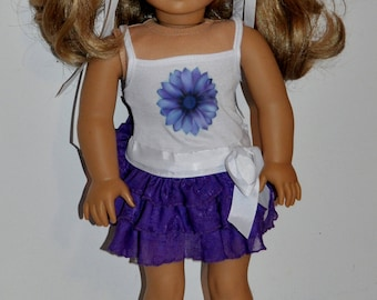 Custom made summer doll dress that fits AMERICAN GIRL DOLLS