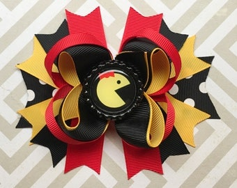 Ms. Pacman Hair Bow || Ms. Pacman Birthday Outfit || Pacman Party || Arcade Party || Arcade Hair Bow || Video Game Bows