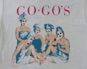 Vintage GO-GOs s 1982 tour T SHIRT original concert tee