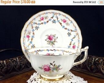 Royal Chelsea, Bone China Teacup, Vintage Tea Cup, Cup and Saucer, Antique Tea, English Bone China 12789