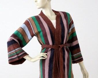 SALE 1970s hippie sweater, vintage wrap cardigan