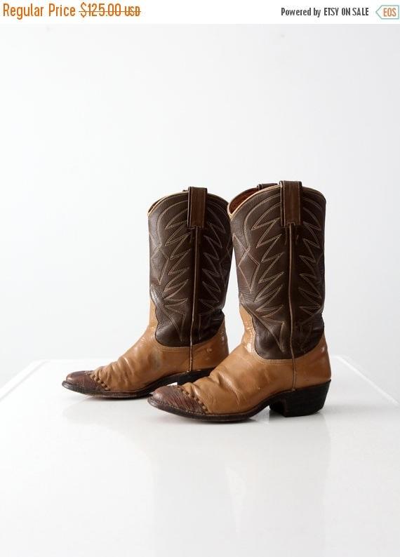 SALE Nocona cowboy boots, 1960s brown leather boots, women's size 5