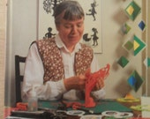 """Vintage Danish craft book """"Klip med Gunvor Ask"""" papercraft patterns / Gunvor Ask / 1985"""