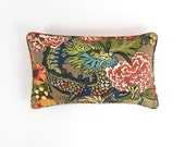 ON SALE Chiang Mai Dragon Mocha 14 X 24 Pillow with self welting (Both Sides)