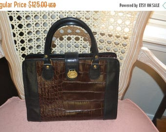 On Sale Vintage Leather Handbag~Brahmin~ Brahmin Bag~ Made in the USA~ Excellent Condition~
