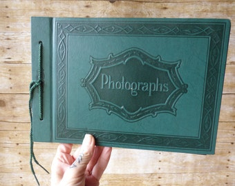 Photo Album - Wedding Album - Prop - Staging -Vintage Scrapbook-