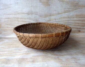 Large Shallow Basket - Wall Hanging - Wicker Tray - Winnowing Basket