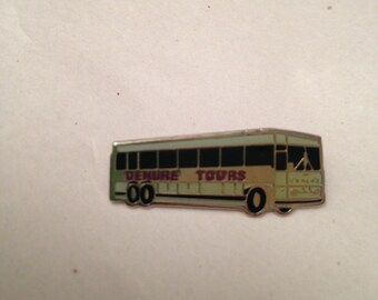 Denure Tours Bus Lapel Pin Could Be Used In A Craft Project Denure Tours Memorabilia  Tour Bus Souvenir Display Piece For Type Case Drawer