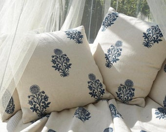 Indigo Pillow India Style Pillow Cushion Shipping Included in the U.S.