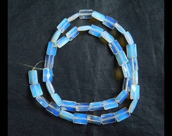 SALE ! Faceted Pendant,Opalite Gemstone Necklace,1 Strand,40cm in the Lenght,10x7x4mm,15.2g(a0314)