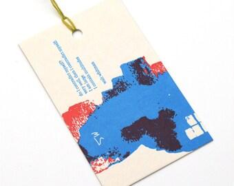letterpress gift tag / whitman / upcycled calendar / tag / swing tag / gift giving / single tag / letterpress print