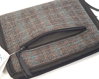 DPN or Crochet Hook Case in Plaid Suiting