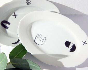 Brush Strokes Porcelain Stickers