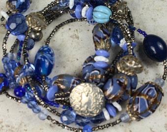 Multi Use Necklace Bracelet Combination Piece Hippie Gypsy Tribal Chic Necklace