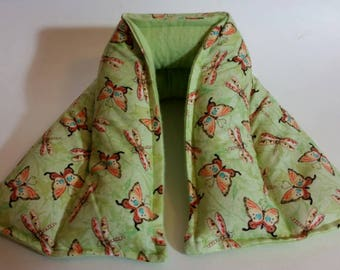 Hot/ Cold Herbal Therapy Neck, Knee and Ankle Wrap Butterflies and Dragonflies