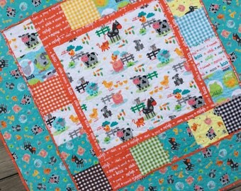 Baby Boy Complete Quilt KIT Funny Farm By Studio E Fabrics