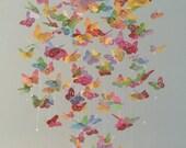 Color Splash monarch butterfly chandelier mobile, baby mobile, baby mobile, photo prop, nursery mobile
