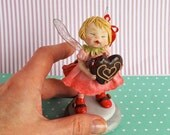 OOAK Fairy, Miniature Art Doll Sculpted From Polymer Clay, Pure Art Sculpture, Chocolate Fairy