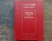 Vintage French Larousse Red Dictionnaire des difficultes de le langue francais Language Speaking Writing Book Hardback 1989 / English Shop