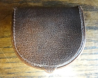 Vintage English Leather Wallet Coin Purse circa 1970-80's / English Shop
