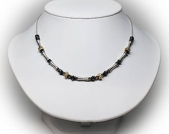Sterling Silver Mixed Beaded Necklace