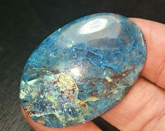 43mm Azurite Shattuckite chrysocolla Malachite oval cabochon AAA  43 by 29 by 5mm