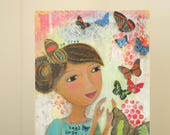 release - empowering mixed media art for women - butterflies - freedom - fly
