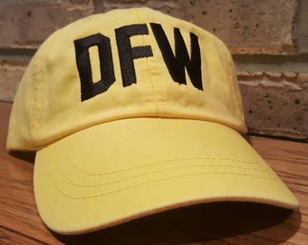 Free Shipping - DFW Airport Code Hat - Embroidered Dallas/Fort Worth International Airport Cap - DFW Baseball Hat