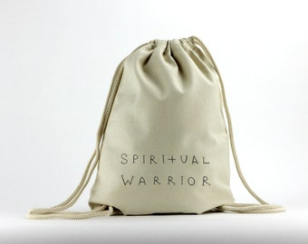 Spiritual Warrior -  Designed Cream Bag