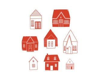 Little Houses Print