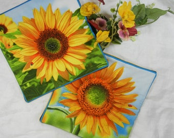 Quilted Trivets (2) - Sunny Sunflowers Set #4