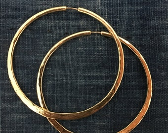 Hoop Earrings, Extra Large, Sterling Silver, Brass, Gift for her